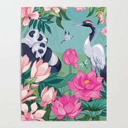 Under the Magnolia Blossom Poster