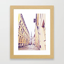 At the end Framed Art Print