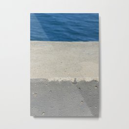 Abstract - Cement and Lake Metal Print