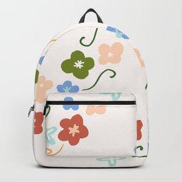 'My little floral' pattern - gouache paint Backpack