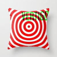 vertigo Throw Pillows featuring VERTIGO by Brian Walker