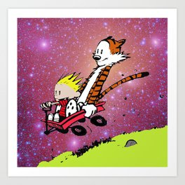 Calvin and hobbes adventure Art Print