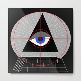 All-Seeing-Eye in the Crosshairs Metal Print