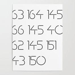 Steve Reich / ASCII code 163 164 145 166 145 40 162 145 151 143 150 Poster