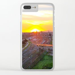 Fuorigrotta quarter at sunset Clear iPhone Case
