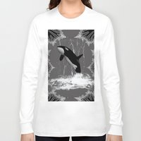 orca Long Sleeve T-shirts featuring Orca by nicky2342