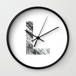 The letter L- Stone Texture Wall Clock