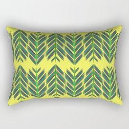 Green feathers Rectangular Pillow