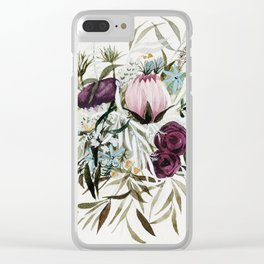 Rustic and Free Bouquet Clear iPhone Case
