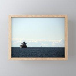 leaving port Framed Mini Art Print