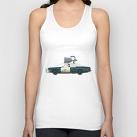 blues brothers Tank Tops featuring The Blues Brothers Bluesmobile 1/3 by Staermose