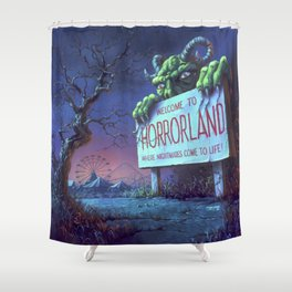 One Day at Horrorland Shower Curtain
