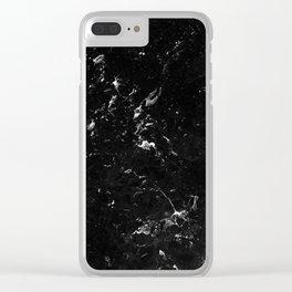 Black Marble #4 #decor #art #society6 Clear iPhone Case