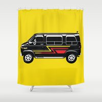 van Shower Curtains featuring Classic Van by Eyes Wide Awake