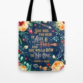 Ash & Fire Tote Bag