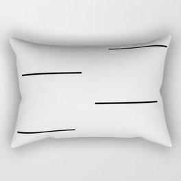 Mudcloth white black dashes Rectangular Pillow