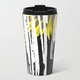 Abstract Palm Tree Leaves Design Travel Mug