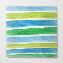 Sea Stripes Metal Print
