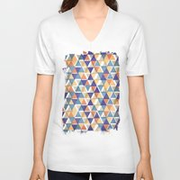 triangles V-neck T-shirts featuring TRIANGLES by Kiley Victoria