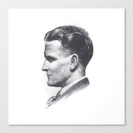 A portrait of F Scott Fitzgerald Canvas Print