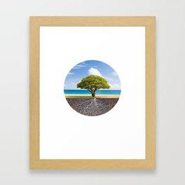 Sea Beach Tree of Life Framed Art Print