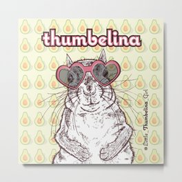 Little Thumbelina Girl: heart sunnies Metal Print