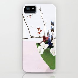 Orchids in a Green Pot iPhone Case
