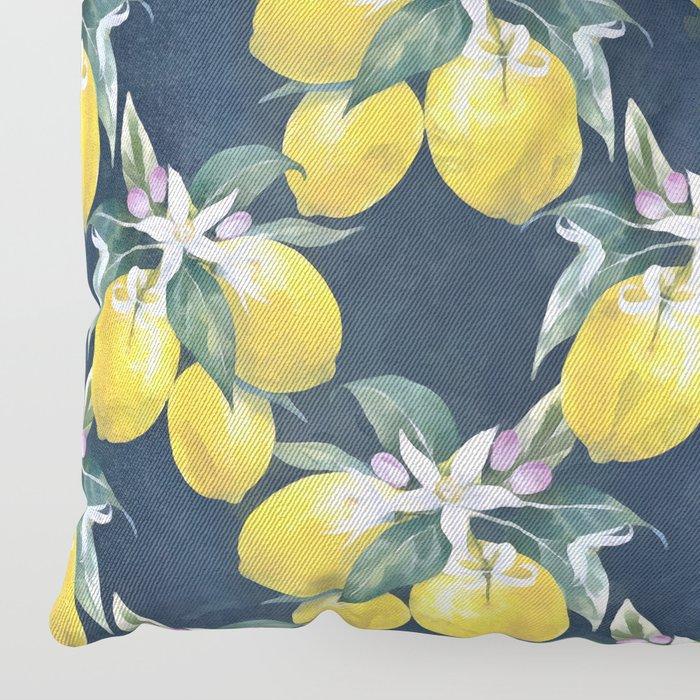 Lemons pattern Floor Pillow