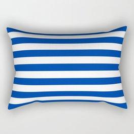 Princess Blue Beach Hut Horizontal Stripe Fall Fashion Rectangular Pillow