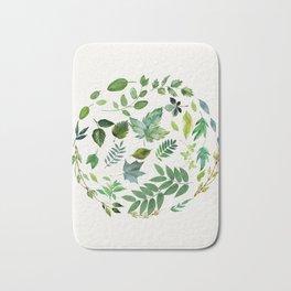 Circle of Leaves Bath Mat