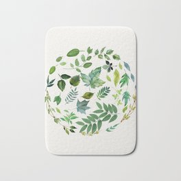 Circle of Leaves Bath Mat