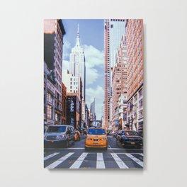 New York City // Retro 42 Metal Print
