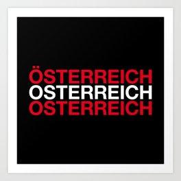 AUSTRIA Art Print