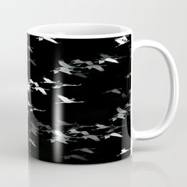 Abstract Black and White Crane Flock #decor #society6 Coffee Mug