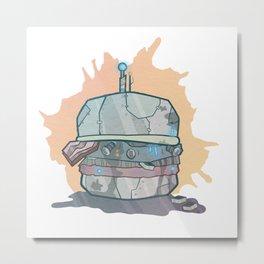 Robo-Burger Metal Print
