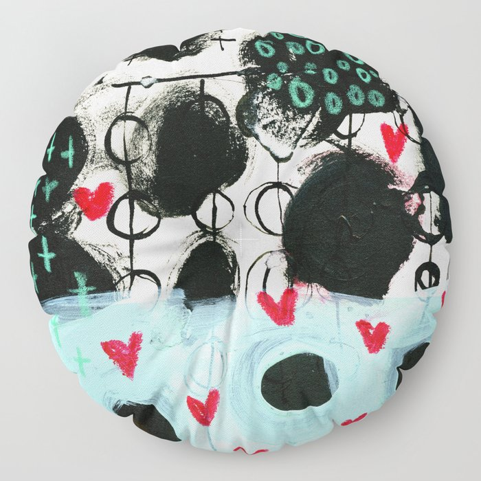 Falling Hearts Floor Pillow