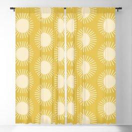 Golden Sun Pattern III Blackout Curtain