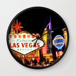 Living Las Vegas 2 Wall Clock