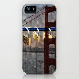 LOVE LOCKED - GOLDEN GATE BRIDGE iPhone Case