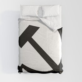 Hammer And Sickle Russia Emblem Silhouette Comforters