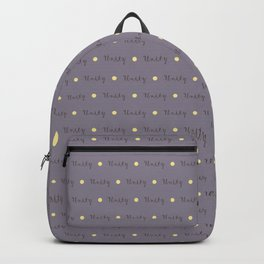 Yellow Spotted Heather Unity Pattern Backpack