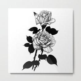 Ink rose Metal Print