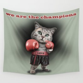 BOXING CAT Wall Tapestry
