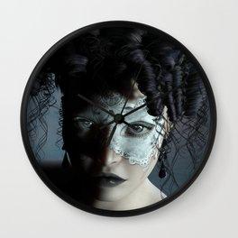 Midnight masquerade Wall Clock