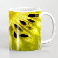 kiwi Mugs featuring Kiwi by Irene Leon