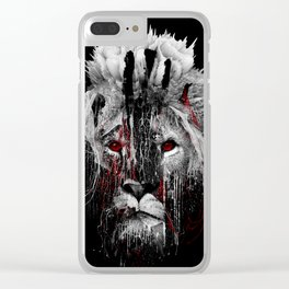 LION - RED EYE Clear iPhone Case
