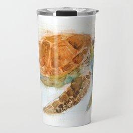 Watercolour Turtle Travel Mug