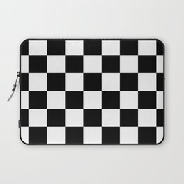 Black&White Checkered Pattern Laptop Sleeve