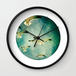 BIRDS IN FLIGHT  Wall Clock
