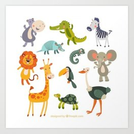 animal zoo Art Print